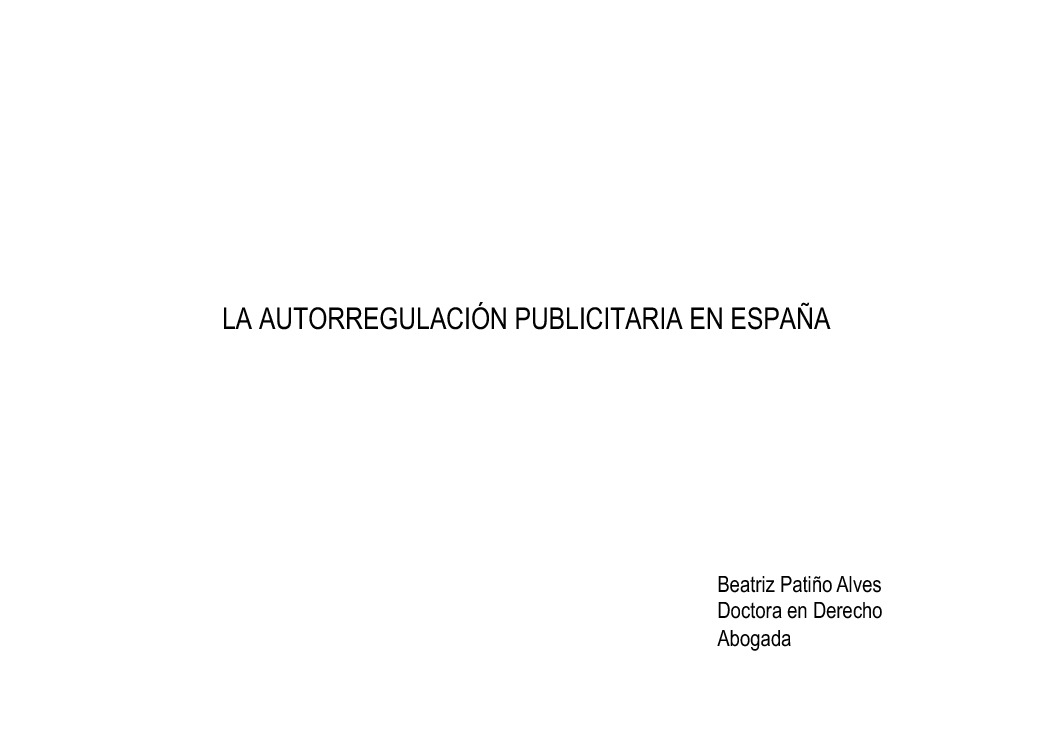A autorregulación publicitaria en España